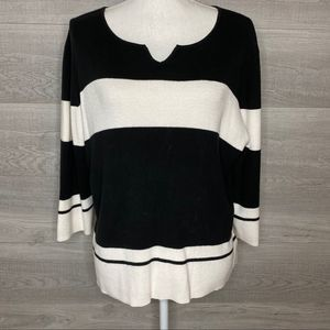 Black & White Sweater Top by Worthington XL
